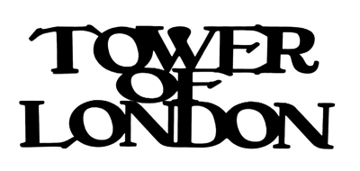 Tower of London Scrapbooking Laser Cut Title