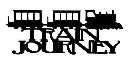 Train Journey Scrapbooking Laser Cut Title with train