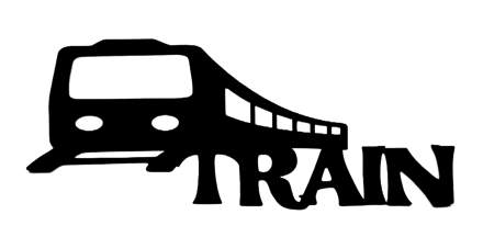 Train Scrapbooking Laser Cut Title with train