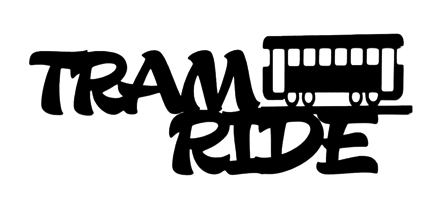 Tram Ride Scrapbooking Laser Cut Title with Tram