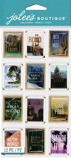 Travel Photo Posters Jolees Boutique Large Scrapbooking Stickers