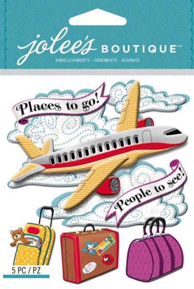 Airplane Jolees Scrapbooking Stickers