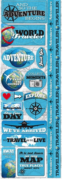 Travel Cardstock Scrapbooking Stickers and Borders