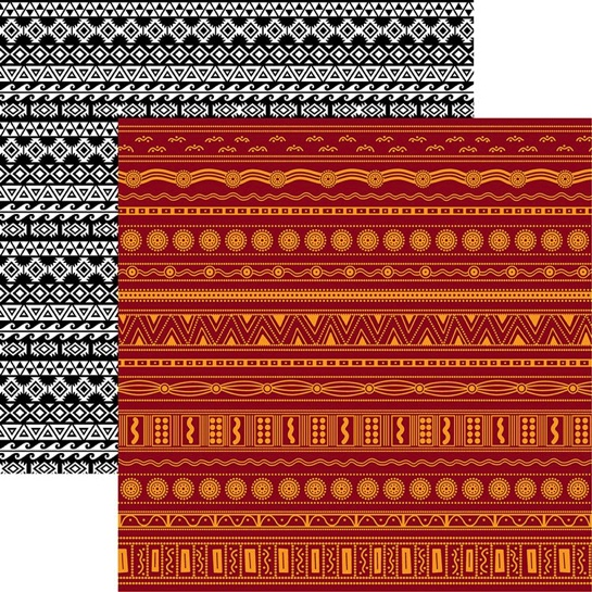 Tribal 12x12 Double Sided Scrapbooking Paper