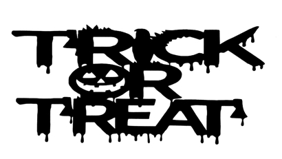 Trick or Treat Scrapbooking Laser Cut Title