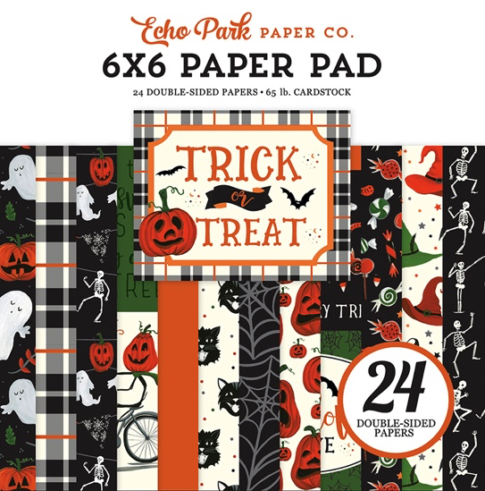 "Trick or Treat Scrapbooking 6"" x 6"" Paper Pad"