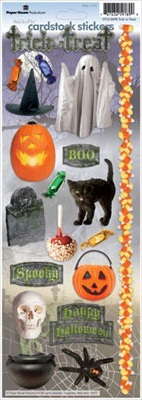 Trick or Treat Cardstock Scrapbooking Stickers
