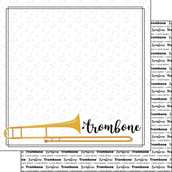 Trombone 12x12 Double Sided Scrapbooking Paper