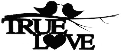 True Love Scrapbooking Laser Cut Title with Birds