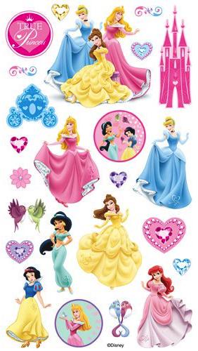 True Princess Scrapbooking Stickers