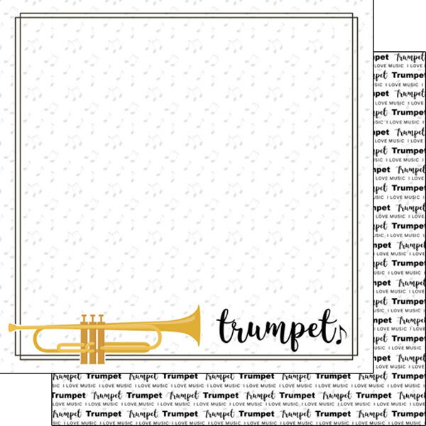 Trumpet 12x12 Double Sided Scrapbooking Paper