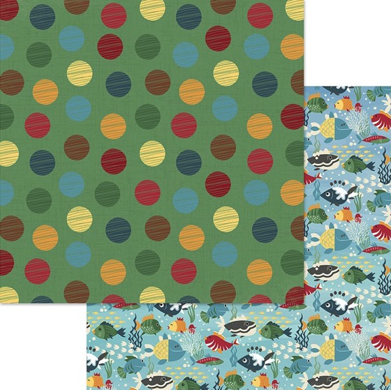 Tuna Breath Double Sided 12x12 Scrapbooking Paper