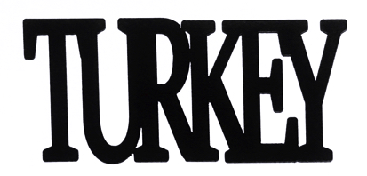 Turkey Scrapbooking Laser Cut Title