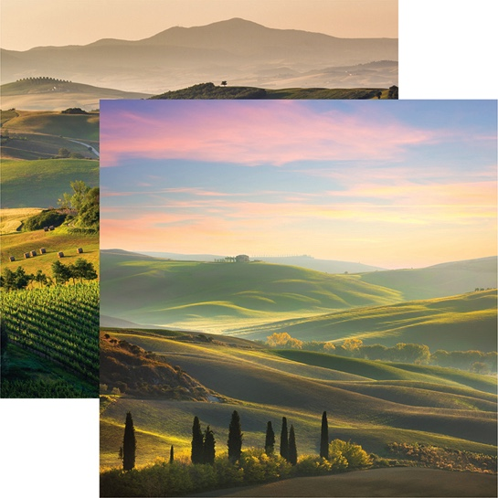Tuscany 12x12 Double Sided Scrapbooking Paper