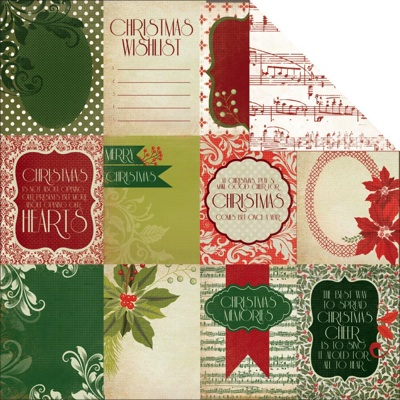 Twelve Days 12x12 Double Sided Scrapbooking Paper