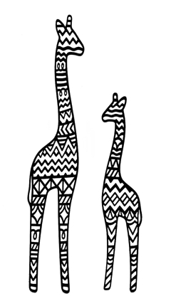 Two Tall Giraffes Intricate Scrapbooking Laser Cuts