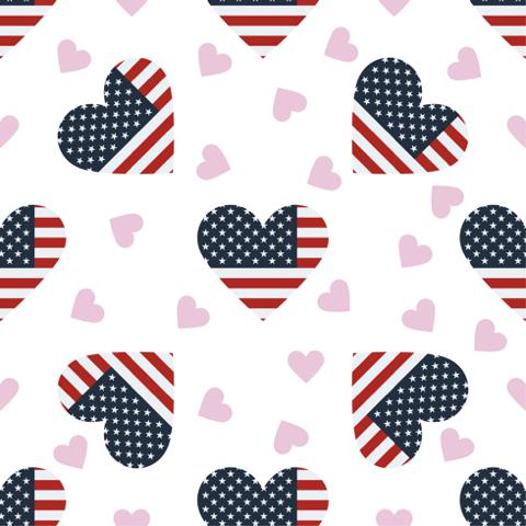 American Hearts 12x12 Scrapbooking Paper