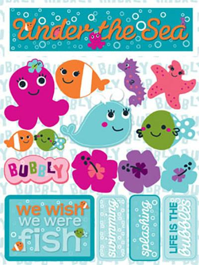 Under the Sea 3D Scrapbooking Stickers