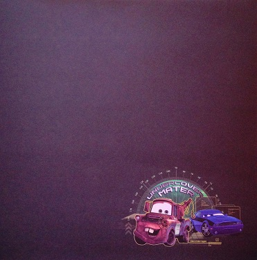 Cars Undercover Mater 12x12 Scrapbooking Paper