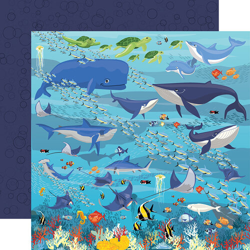 Underwater Double Sided 12x12 Scrapbooking Paper