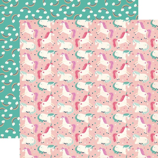 Unicorns Double Sided 12x12 Scrapbooking Paper