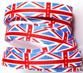 Union Jack Self Adhesive Scrapbooking Ribbon