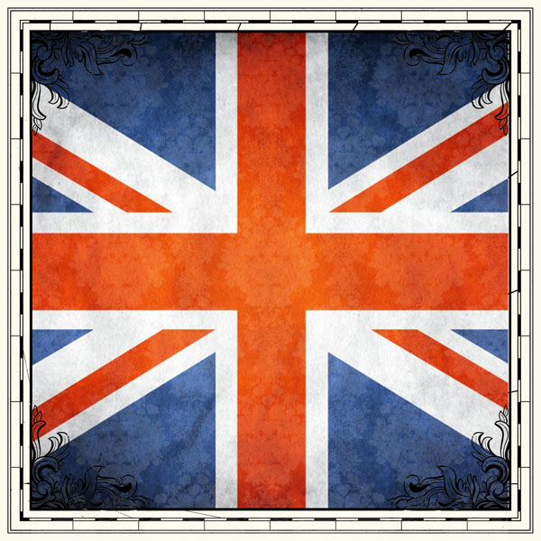 United Kingdom Flag 12x12 Scrapbooking Paper