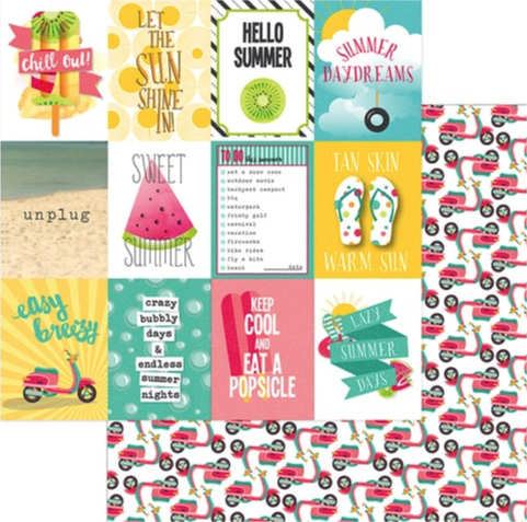 Unplug 12x12 Double Sided Scrapbooking Paper
