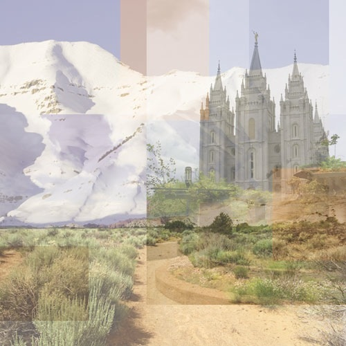 Utah Collage 12x12 Scrapbooking Paper