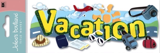 Vacation Jolees 3D Scrapbooking Title Stickers