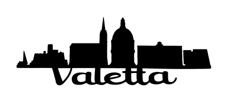Valletta Scrapbooking Laser Cut Title with skyline