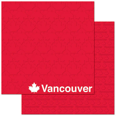 Vancouver 12x12 Double Sided Scrapbooking Paper