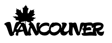 Vancouver Scrapbooking Laser Cut Title with Maple Leaf