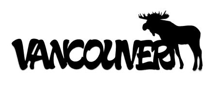 Vancouver Scrapbooking Laser Cut Title with Moose