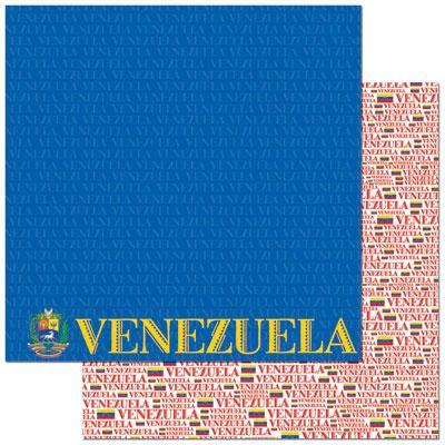 Venezuela 12x12 Double Sided Scrapbooking Paper