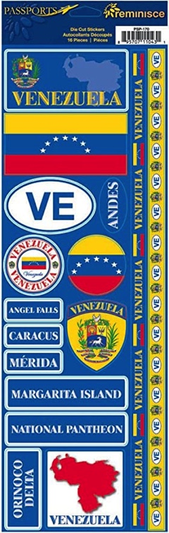 Venezuela Cardstock Scrapbooking Stickers and Borders
