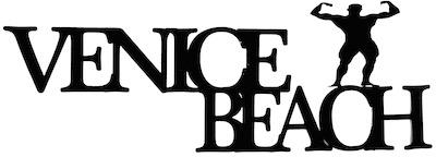 Venice Beach Scrapbooking Laser Cut Title with Bodybuilder