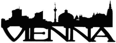 Vienna Scrapbooking Laser Cut Title with Skyline