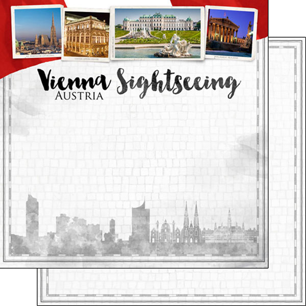 Vienna Sightseeing 12x12 Double Sided Scrapbooking Paper