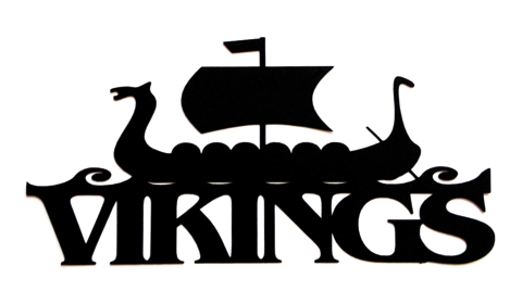 Vikings Scrapbooking Laser Cut Title with Long Boat