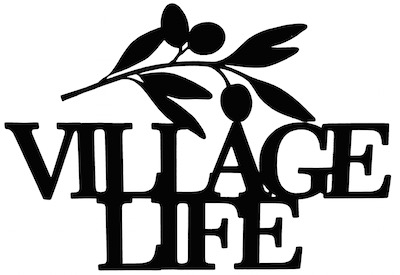 Village Life Scrapbooking Laser Cut Title with Olive Branch