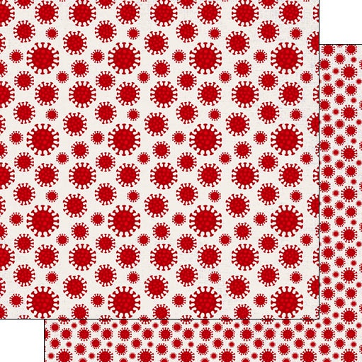 Virus 12x12 Double Sided Scrapbooking Paper