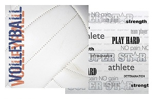 Volleyball 12x12 Double Sided Scrapbooking Paper