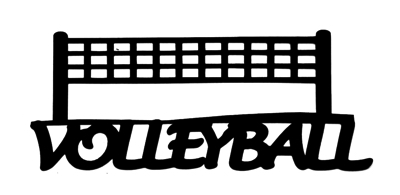 Volleyball Scrapbooking Laser Cut Title with Net