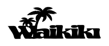 Waikiki Scrapbooking Laser Cut Title with Palm Trees