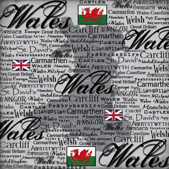 Wales Collage 12x12 Scrapbooking Paper
