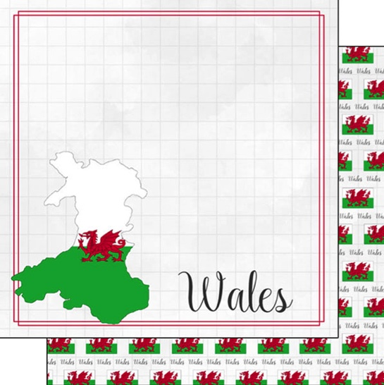 Wales 12x12 Double Sided Scrapbooking Paper