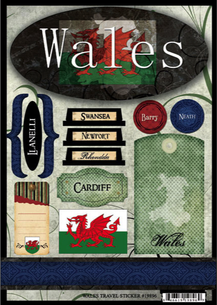Wales Travel Scrapbooking Stickers