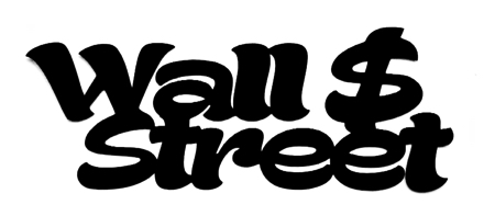 Wall Street Scrapbooking Laser Cut Title with Dollar