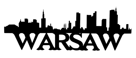 Warsaw Scrapbooking Laser Cut Title with Skyline